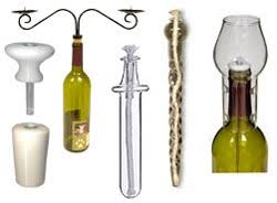 Wine Bottle Candles and Lights: