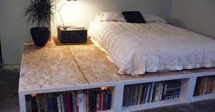 diy bookcase bed frame