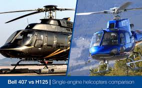 Airbus H125 Vs Bell 407 Single Engine Helicopter Comparison