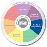 Benefits & Compensation - strategic HR, inc. Multicolored wheel divided into 7 equal sections Recruitment, Training and Development, Benifits and Compensation