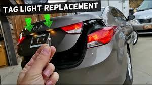 2013 Hyundai Elantra Bulb Chart How To Replace Tag Light Bulb On Hyundai Elantra 2011 2012 2013 2014 2015 2016