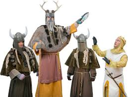 al costumes for monty python s spamalot knights who say ni and king arthur