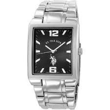u s polo assn men s usc80035 rectangular black dial metal link buy u s polo assn men s usc80035 rectangular black dial metal link watch imported