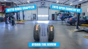 Hybrid Tires Nitto Ridge Grappler Vs Toyo Open Country Rt
