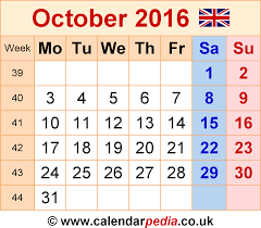 October 2016 Calendar Word Search Free Calendar 2016