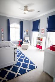 baby boy bedroom images: boxy contemporary furniture mixed with classic window treatments create a stylish kid friendly
