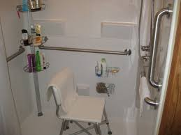 walk in shower handicap grab bars bathroom rails white grab bars