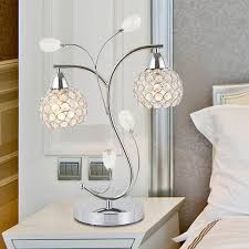 crystal white glass bedside table lamps for contamporary bedroom decor charming and awesome your ikea crate
