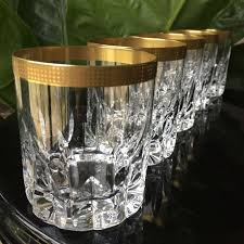 hutschenreuther rosenthal crystal whiskey glasses old fashioned heavy 6