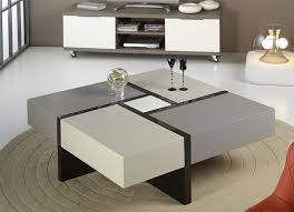furniture modern square coffe table on beige round rug in contemporary living room tables