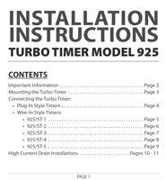 turbo timers installation bogaard distributors pty ltd Timer Relay Wiring Diagram at Bes Turbo Timer Wiring Diagram