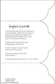 cards templates mirkwood designs triptych card templates