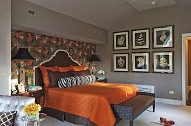 brown and orange bedroom photo - 1