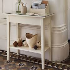 small hallway table. Enchanting Small Hallway Table Narrow Using Antique White Wood Paint With Glass Top Desk And Mudroom