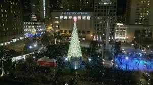Sf Union Square Tree Lighting Christmas Tree Lighting Union Square San Francisco 2013