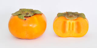 orange fruit names. Fine Names A Whole Jiro Persimmon Fruit And A Crosssection Of One And Orange Fruit Names