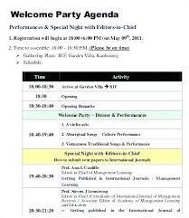 Party Agenda Templates Party Agenda Template Caseyroberts Co