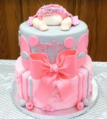 Delightful Ideas Cakes For Baby Showers Girl Classy Idea Best 25 ...