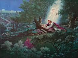 christ in the garden of gethsemane. Jesus Praying Garden Gethsemane | Prays In The Of Before His Crucifixion. Christ G
