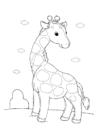 Small Picture Easy to Make cartoon giraffe coloring pages free printable