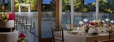 outdoor wedding venue and indoor reception space