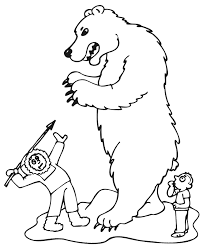 Small Picture Polar Bear coloring page Animals Town animals color sheet