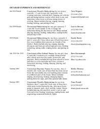 Nanny Resume Description Therpgmovie
