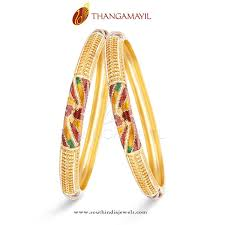 Latest South Indian Bangles Design Gold Bangles With Enamel Work Gold Bangles Bangles Gold