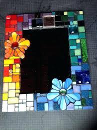mosaic glass mirror diy old cd frame wall art mosaics mirrors furniture licious