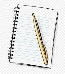 paper notebook cartoon pen notebook