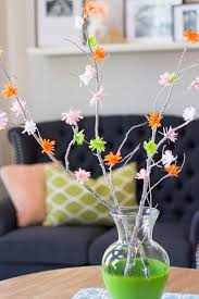 Paper Flower Branches Colorful Crepe Paper Flower Branches Allfreepapercrafts Com