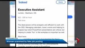 Indeed Job Posting Cost Gta Woman Says She Was Scammed By Fake Job Posting Toronto