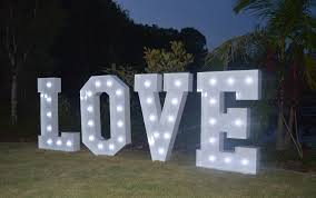 Giant Light Up Letters Giant Letters Love