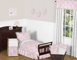 pink and gray alexa erfly toddler bedding 5pc girls set by sweet jojo designs