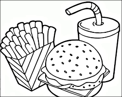 Small Picture Free Coloring Pages For Kids and Adults Printable Fast Food
