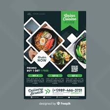 Now Open Flyer Template Restaurant Flyer Template With Photo Vector Free Download