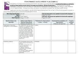 work plan examples employee work plan template