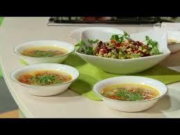Вегетарианский вариант супа «Шурпа» и салат «Мазурка ...