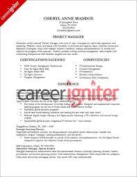 Project Manager Sample Resume Musiccityspiritsandcocktail Com