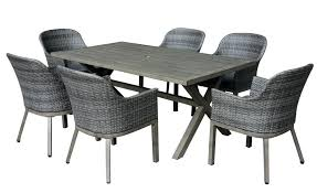 home depot dining sets crown view 7 piece two tone grey wicker steel patio set with grey home depot wicker dining chair