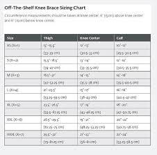 Donjoy Knee Brace Size Chart Donjoy Drytex Braces