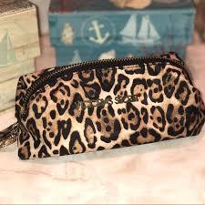 vs cheetah print makeup bag