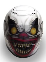 scary clown custom painted motorcycle helmet ebay