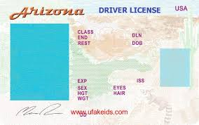 Arizona In Passport 2019 Driver Template Id Card Certificate Licence Template Fake Documents Birth
