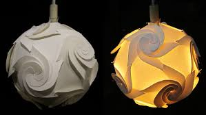 DIY paper lampshade (cyclone)- home and room decor - EzyCraft - YouTube