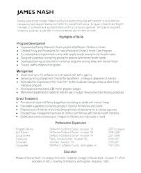 Examples Of Social Work Resumes Social Worker Resume Resumes