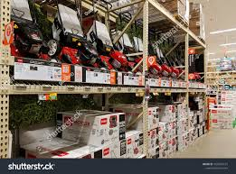 home depot retail lawn and garden yard work aisle new grass cutting mowers