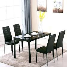 glass metal dining table 5 piece dining table set 4 chairs glass metal kitchen room breakfast glass metal dining table