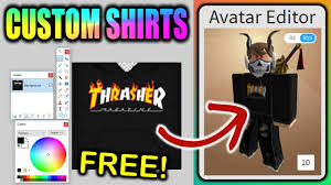 How To Create Your Own Clothes On Roblox Make Your Own Custom Roblox Shirts Free Boys Girls