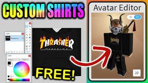 Roblox Custom Clothes Make Your Own Custom Roblox Shirts Free Boys Girls